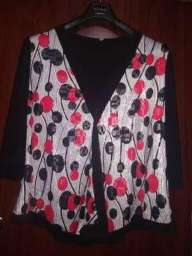 Blusa remera en seda fría talle 48 o xl