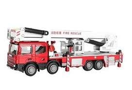Camion de bomberos KDW 1/50 Diecast. Escalera de 17 pulgadas.