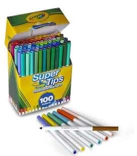 Crayola Super Tips Wasable 100 Markers Envio
