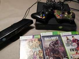 Xbox 360 slim 4gb con todo!!