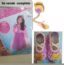 Disfraz princesa rapunzel