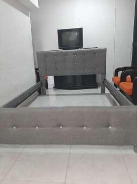 cama tapizada