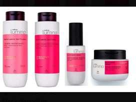 Kit lumina químicamente dañado shampoo, acondicionador, máscara y Serum regenerador