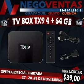 TV BOX TX9 DE 4GB + 64GB MEGA PROMOCIÓN EXCLUSIVA ÚNICAMENTE AQUÍ EN NEGOVENTAS POR TIEMPO LIMITADO APROVECHA