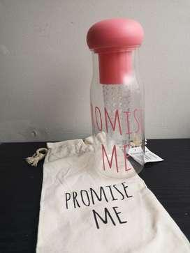 Botella Transparente Promise Me