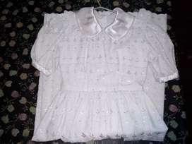 Vestido de comunión / solera de fiesta blanco