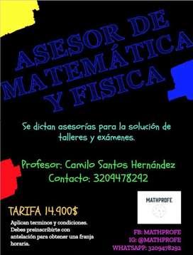 Profesor de matemática y fisica