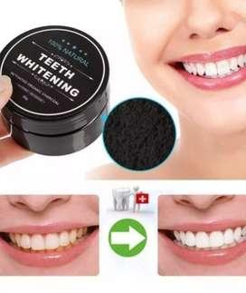 Carbón activado blanquear dientes