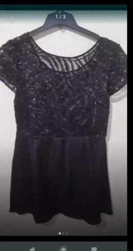 Vestido negro Wanama t. 44