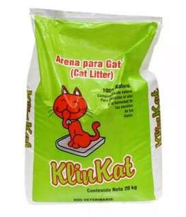 Arena para gato Klinkat 20 KG