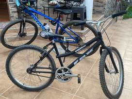 Bicicleta de segunda negra aro 25