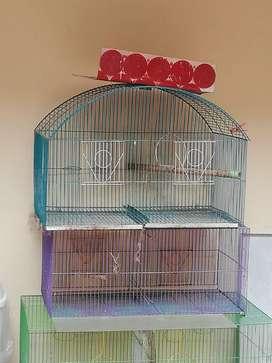 4 jaulas para pájaros