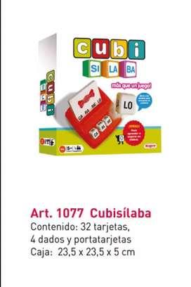 Juego didáctico  - Cubi silabas