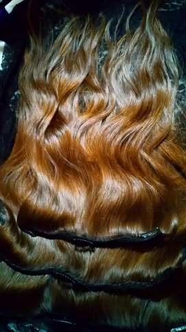 Extensiones rubio claro de cabello, natural