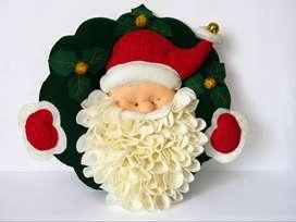 Corona Navideña papá Noel