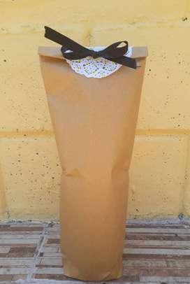 Bolsa Papel Porta Botella Vino Champ X10 Regalo Empresarial
