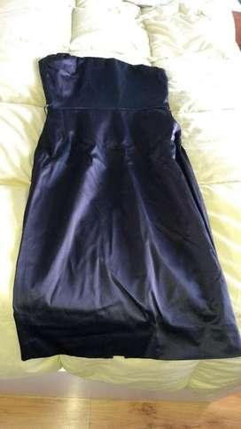 Vestido Stapless Nego de Las Oreiro
