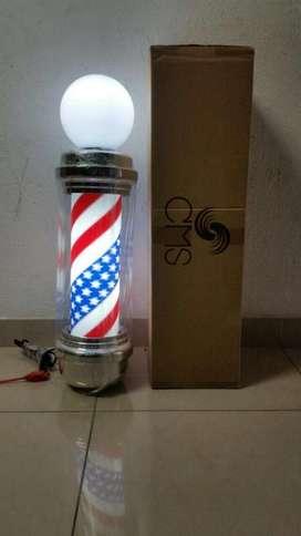 Barber Pole Aviso Barber Shop Poste Barberia Americano 90 Cm