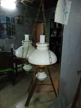 Lámpara Colgante de Bronce Antigua