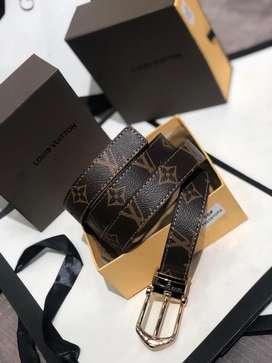 Correas Louis Vuitton Cuero Cafe Oscuro LV Envio Gratis