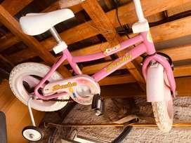 Bicicleta Con Rueditas Nena