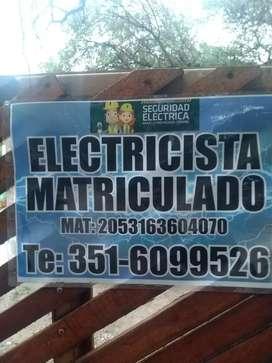 Electricista matriculado .urgencias ..