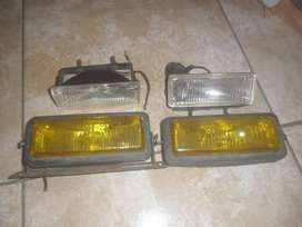 FAROS HALOGENOS RECTANGULARES BLANCO/AMARILLO IMPECABLES