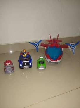 Combo de juguetes paw patrol