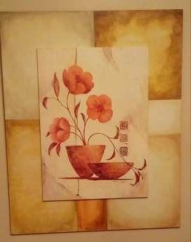 Vendo 2 hermosos cuadros pintados a mano