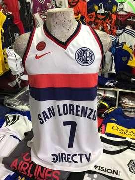 Remera basket san lorenzo s al xxl