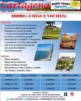 TOUR CARTAGENA SALIDAS ENERO