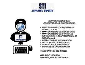 SERVICIO TECNICO DE COMPUTADORAS, IMPRESORAS Y REDES