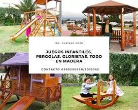Venta y arreglo de juegos infantiles en madera tratada