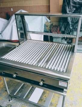 Grill Especial a Carbon Y Gas en Acero.