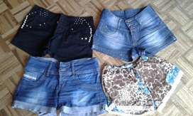 Shorts y camperas usados
