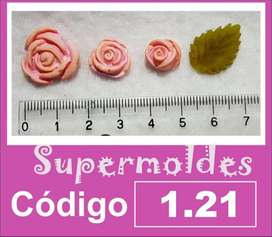 Molde Supermoldes De Silicona Rosas 1.21