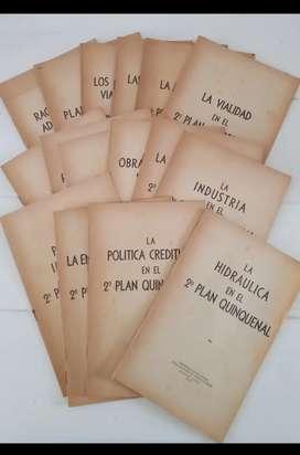 Lote 16 folletos Plan Quinquenal de Perón - Año 1953