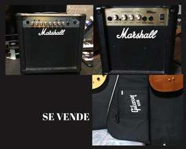 Se vende o se cambia por Head de Tubos Marshall MG15CFX-Estuche Gibson USA original-Marshall MG10CD