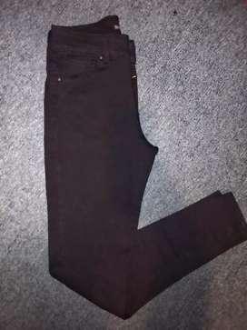 Jeans nuevo negro talle 38 Vertu