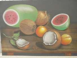 Cuadro, al pastel, 70x100, Germán Toloza, barato