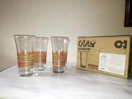 Set de vasos cristar