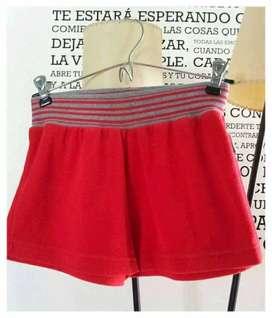 Short de toalla Rojo Talle 1 chico o para adolescente
