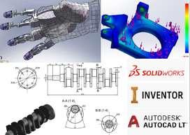 PLANOS 2D 3D AUTOCAD SOLIDWORKS INVENTOR PROYECTOS UNIVERSITARIOS NUEVO CHIMBOTE