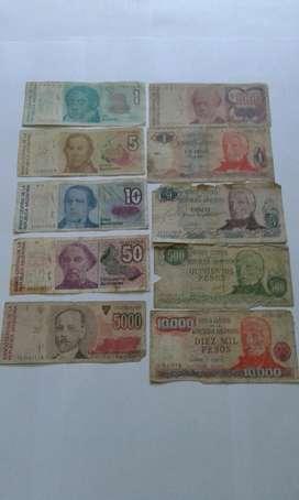 Lote de Billetes Argentinos Antiguos