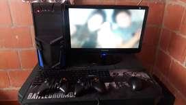 PC ryzen 5 2400g+monitor Samsung 1080p