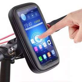 Estuche Holder Soporte Moto Bicicleta Impermeable Gps Y Celular