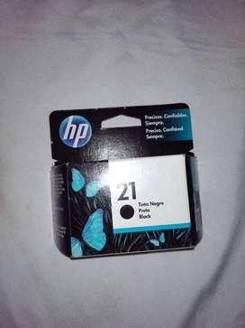 Cartucho HP 21 Original, Sellado Nuevo.