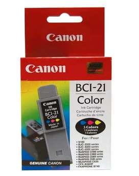 Cartucho para equipos Canon BCI 21 color