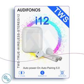 Audífonos Bluetooth 5.0 Sensor Táctil i12 TWS