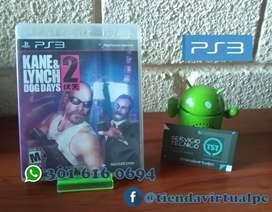 JUEGO DE PS3 KANE Y LYNCH DOG DAYS 2 USADO EN BUEN ESTADO